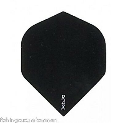 5 Sets Of Ruthless R4X Black Extra Strong Standard Dart Flights