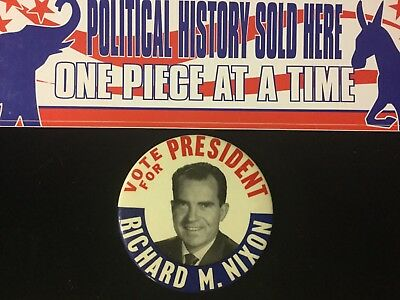 Vote For President Richard M.nixon 3 1/2 Inch Button