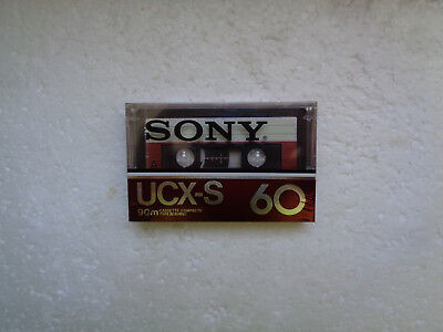 Vintage Audio Cassette SONY UCX-S 60 * Rare From France 1982 * Collector