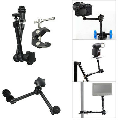 """11"""" Articulated Monitor Holder + Crab Plier Clip for Camera DSLR Magic Arm Mount"""