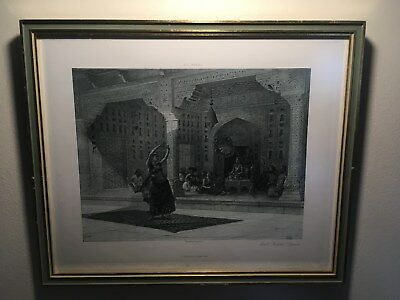 Antique Framed Photogravure, E L Weeks, East Indian Dancer, Beautiful!!!!!!!