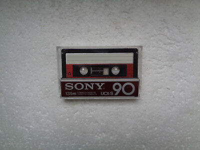 Vintage Audio Cassette SONY UCX-S 90 From 1982 - Fantastic Condition !!