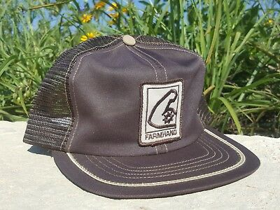 Vintage FARMHAND Mesh Snapback Trucker Hat Patch SWINGSTER Made In USA