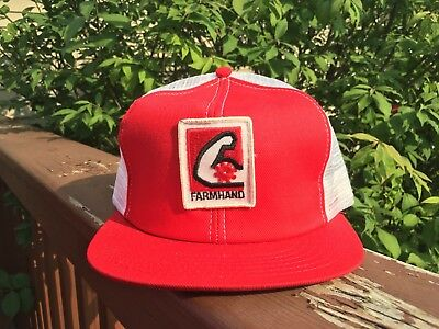 Vintage FARMHAND Mesh Snapback Trucker Hat Patch Made In The USA