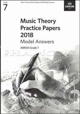 Music Theory Practice Papers 2018 Model Answers ABRSM Grade 7 SAME DAY DISPATCH