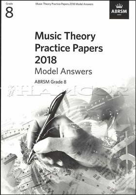 Music Theory Practice Papers 2018 Model Answers ABRSM Grade 8 SAME DAY DISPATCH