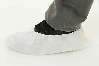 CPE Disposable Boot/Shoe Covers Slip/Water Resistant Heavyweight White 200 PCs