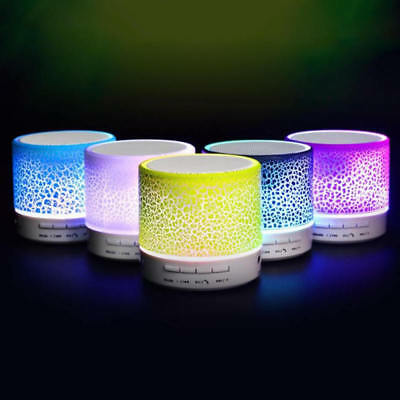 Luminous Lights Rechargeable Wireless Bluetooth Speaker Portable Mini Outdoor x1