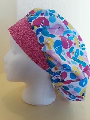 Medical Nursing Items Women's Bouffant Surgical Scrub Hat/Cap Handmade