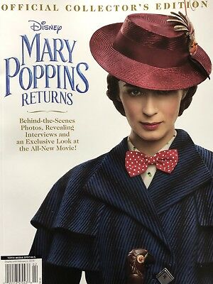 Walt Disney Mary Poppins Returns Official Collector'S Edition Magazine 2018 New