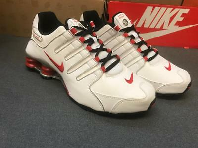 reputable site be26a aa653 ... order youth womens nike shox nz classic sneakers white red black 317929  110 c4142 cf9a8