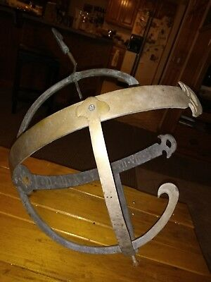Antique Vintage Armillary Garden Sundial with Arrow NEEDS STAND- Beautiful Piece