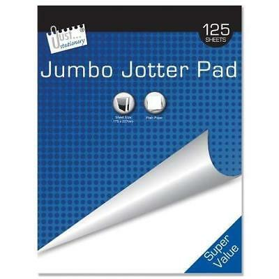 A5 Jumbo Jotter Pad Blue Top Bound Ruled 125sheets Writing Paper Exercise school