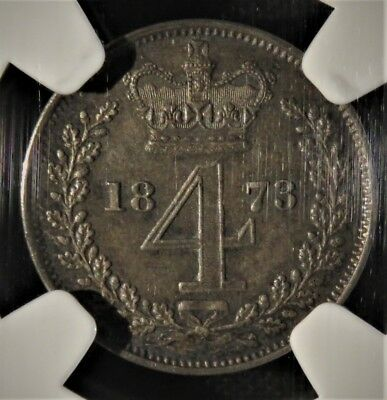1873 4 Pence Maundy  MS 64