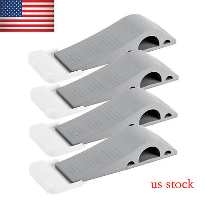 4 Pack Door Stopper Rubber Stop Floor Wedge Holder Doorstop Premium Heavy Duty
