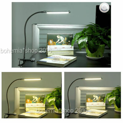 10W LED Stufenloses Dimmbar Klemmlampe Leselampe Tischleuchte USB lampe 3 Farbe