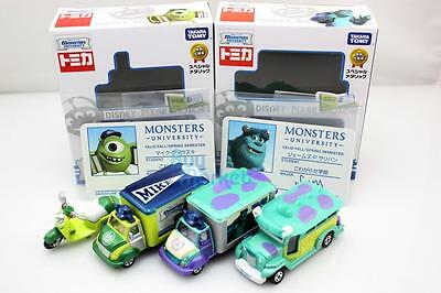 Takara Tomica Tomy Disney Motors Monster University 2BOXES SET Diecast Toy Car