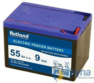 Rutland 9V 55Ah Air Oxygen Electric Fence Batterie