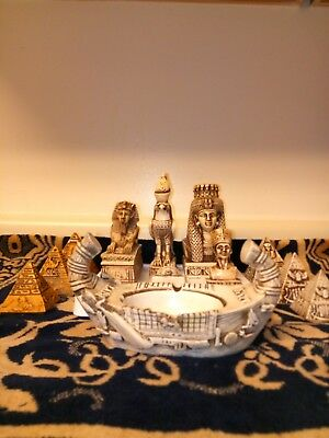 Unique Vintage Pharaonic 12 Pcs Hand Carved Collection