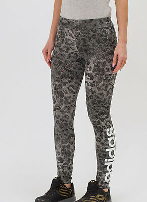 Girls Adidas Leggings Linear leopard print AOP kids ages 9-10 11-12,13-14 new