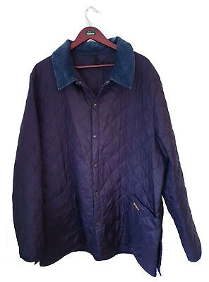 Barbour Men's Luxury Navy Liddesdale Quilted Jacket Size Xxl *vgc*