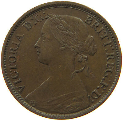 GREAT BRITAIN  FARTHING 1860  #qr 535