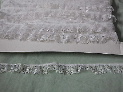 Gathered White Lace  20 metres  (92)