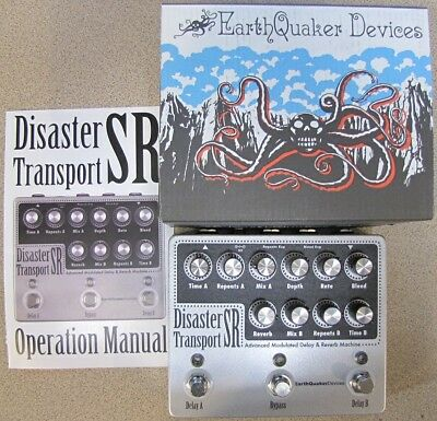 Used Earthquaker Devices Disaster Transport SR Dual Delay with Reverb Pedal!