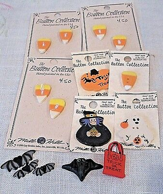Lot of 15 HALLOWEEN BUTTONS-Mill Hill Etc