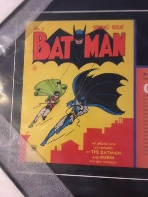 Batman #1 Spring 1940 Custom Made Cover Art REPRINTwith Stamp and story