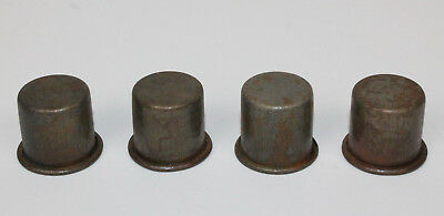 4 METAL SPOUT DUST CAPS for MASTER OIL BOTTLE SPOUTS