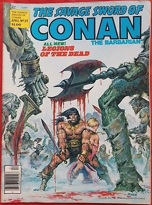 THE SAVAGE SWORD OF CONAN 39 Marvel Comic Magazine 1979 vfn