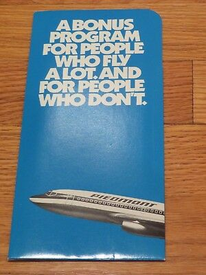 Piedmont Airlines Frequent Flyer Program Introduction Brochure =