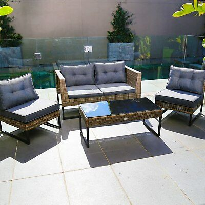 Excalibur Outdoor Living Maxim 4 Piece Lounge Setting