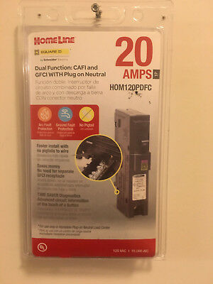 Square D (HOM120PDFC) 20 amp dual function circuit interrupter