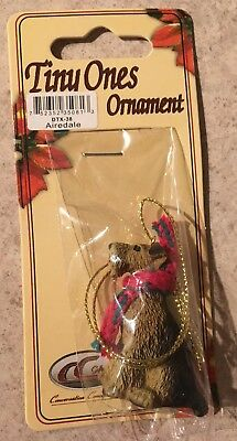 Airedale Ornament Mini Dog Tiny Ones by Conversation Concepts New