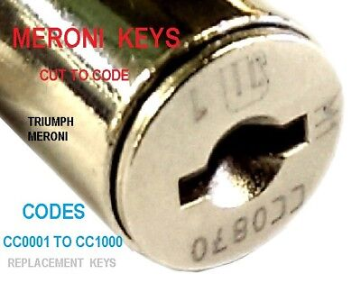 Meroni M1 Keys Cut To  Cc & Cd Codes / Filing Cabinet/ Desk / Pedestal Lock Key