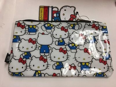 HELLO KITTY SANRIO Cosmetic Bag Zip Clutch Purse Love Forever Print ... df0216a0bc64d
