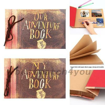 My/ Our Adventure Book Retro DIY Memory Book Wedding Guest Book with 40 Pages