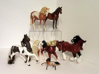 Large BREYER Western Stable Horses Lot of 6 Vintage Collection Moveable Reeves