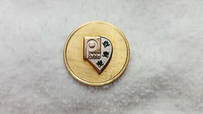 Vintage / Rare Publix Supermarkets Service Award Womens Brooch With 3 Emeralds