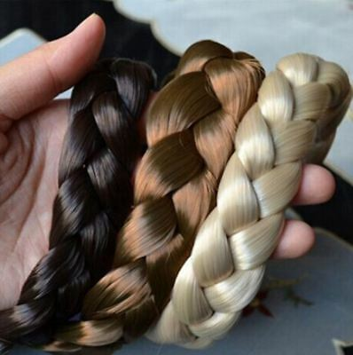 Wide Bohemian Wigs Braid Thick Fishtale Headband Fashion Hair Accessories Gift