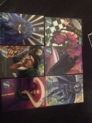 Batman Forever Metal Set of 100 Cards by Fleer 1995 includes Checklist Card