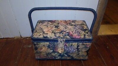 SEWING BOX BASKET Large Twin Lid OR Small Square