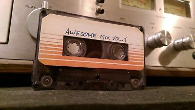 Awesome Mix Tape Volume 1 and 2 Handmade Guardians of The Galaxy cassette
