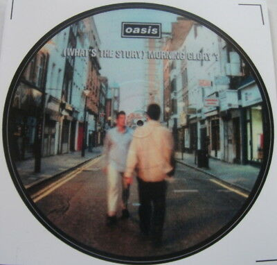 "Oasis Whats The Story Morning Glory  Vinyl Sticker 100Mm 4"" High Quality."