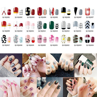 Full Cover Nail Art Stickers Self-adhesive Nail Tip Decorations 1 Sheet Flower