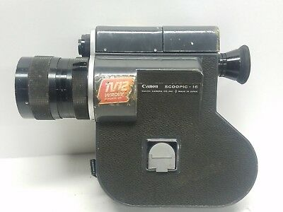 Vintage Canon Scoopic-16 16mm Movie News Film Camera  W Zoom Lens 13-76mm AS IS