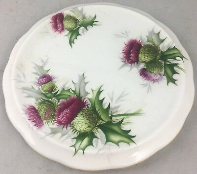 Rare Royal Albert Scotish Highland Thistle Teapot Trivet Excellent