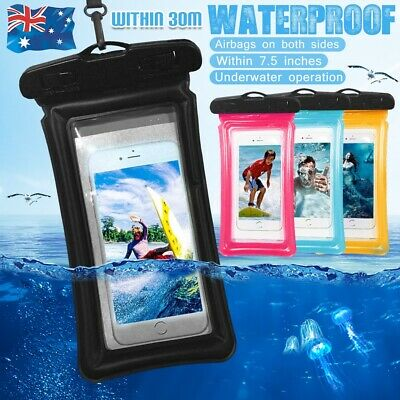 """7.5"""" Float Waterproof Underwater Phone Case Dry Bag Pouch All Smartphone"""